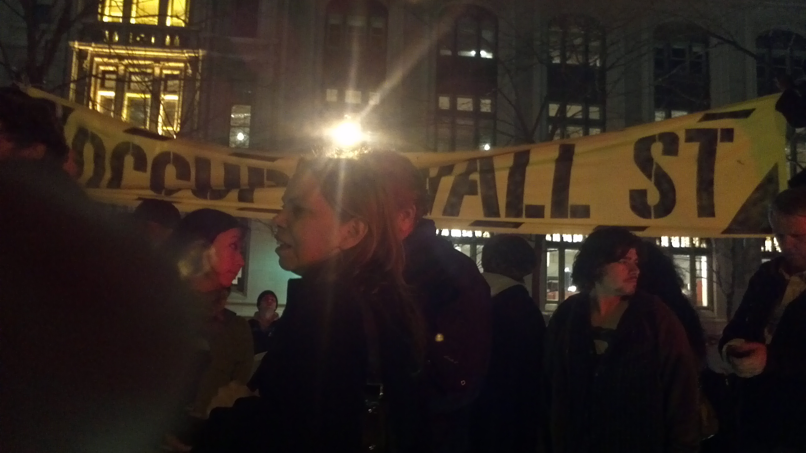 OWS Banner in Liberty Square 3-17-12