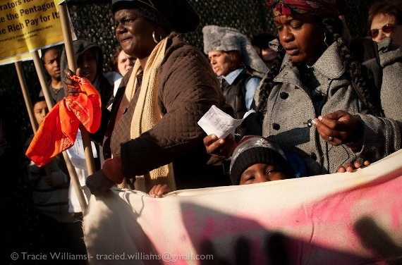 A protest in the Far Rockaways