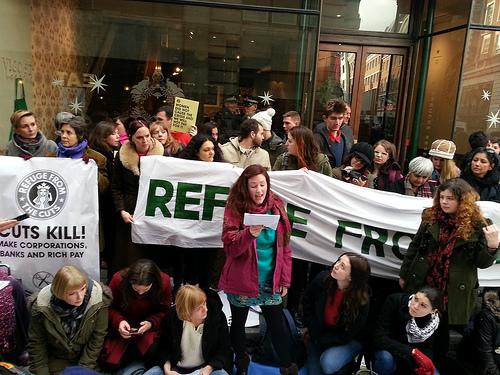 Women against Starbucks in the UK